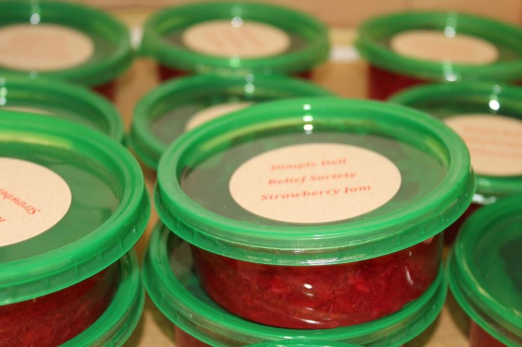 Strawberry Freezer Jam and Homemade Bread